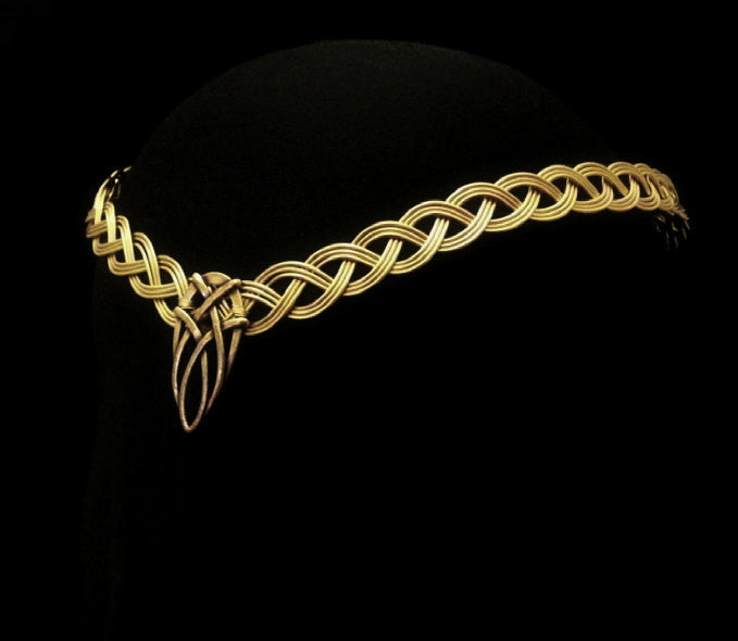 Tiara headpiece gold celtic knotwork circlet