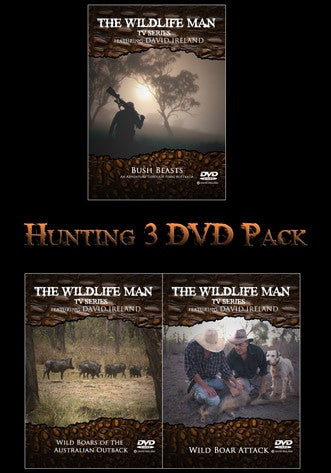 Wildlife Man 3 x DVD Hunting Pack($18 discount)