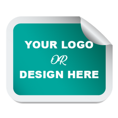 CUSTOM VINYL STICKERS | CUSTOMIZED LABELS - ROUNDED RECTANGLE SIZE STICKER