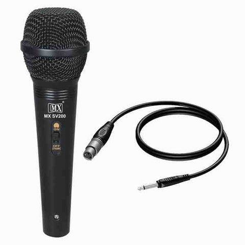 MX Dynamic Mic Cardioid Vocal Multi-Purpose Microphone - XLR to 1/4 inch Cable  MX SV200