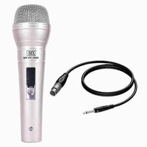 MX Dynamic Mic Cardioid Vocal Multi-Purpose Microphone XLR to 1/4 Cable MX HT-1004