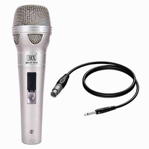 MX Dynamic Mic Cardiod Vocal Multi-Purpose Microphone XLR to 1/4 inch Cable MX HT-1012
