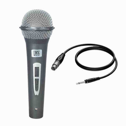 MX Dynamic Mic Cardioid Vocal Multi-Purpose Microphone XLR to 1/4 Cable MX HT-1101