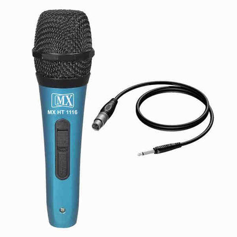 MX Dynamic Mic Cardioid Vocal Multi-Purpose Microphone with XLR to 1/4 Cable HT 1116