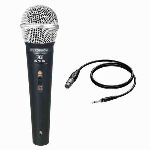 MX Dynamic Mic Cardioid Vocal Multi-Purpose Microphone XLR to 1/4 Cable MX DM-888