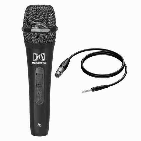 MX Dynamic Mic Cardioid Vocal Multi-Purpose Microphone XLR to 1/4 Cable MX UDM-222