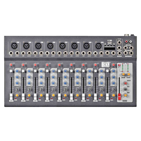 MX Live Mixer 10 Channel Compact Analog Mixer with USB and Bluetooth MX F10 USB