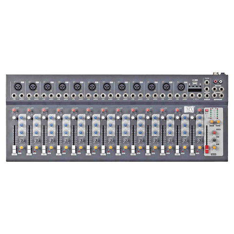 MX Live Mixer 14 Channel Compact Analog Mixer with USB and Bluetooth MX F14 USB