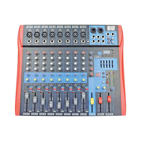 MX Live Audio Mixer 8 Channel Premium Analog Mixer with USB & Bluetooth MX BX8 USB