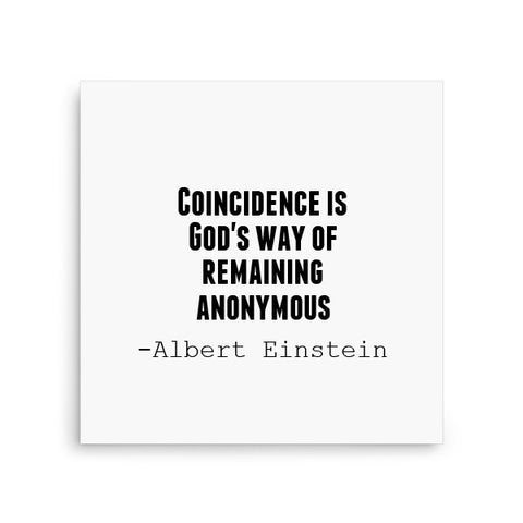 Coincidence is God's way