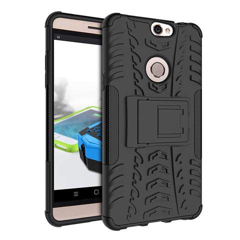 Defender Shockproof Hybrid Armour Back Cover for Coolpad Max with Kick Stand