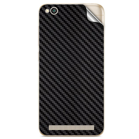 Black Carbon Fiber Texture For Xiaomi Redmi 5A Skin