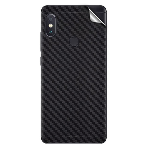Black Carbon Fiber Texture For Xiaomi Redmi Note 5 Pro Skin