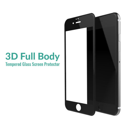 Apple iPhone 7 3D (Black) Tempered Glass Pack of 2 - skin4gadgets