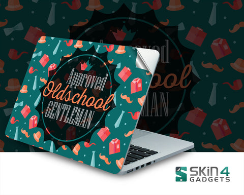 Skin4Gadgets Approved Oldschool Gentlemen Laptop Skin For 15 and 15.6 inch Laptop