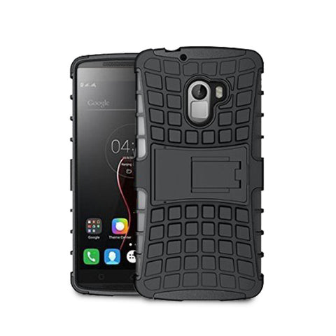 Defender Shockproof Hybrid Armour Back Cover for Lenovo A7010 with Kick Stand