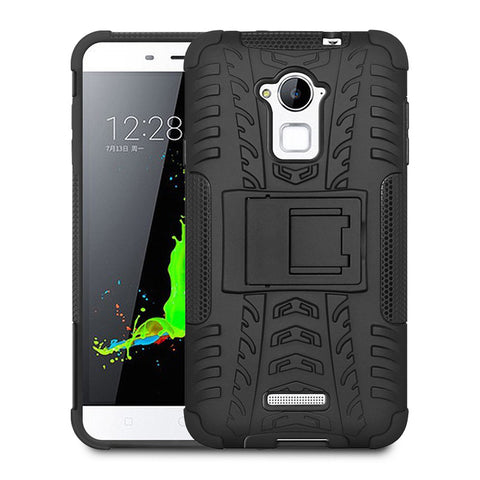 Defender Shockproof Hybrid Armour Back Cover for Coolpad Note 3 with Kick Stand