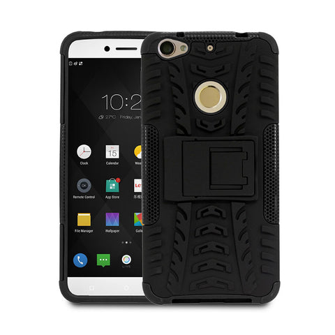 Defender Shockproof Hybrid Armour Back Cover for LeEco Le 1S with Kick Stand