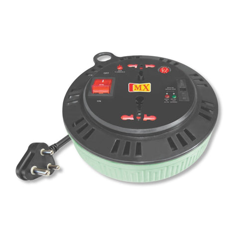 MX EXTENSION BOX 2 SOCKET UNIVERSAL - 15 AMPS. + 5 AMPS. WITH CHILD SAFETY SHUTTER NON FLAMMABLE - 3 MTRS - 3080,Multicolor