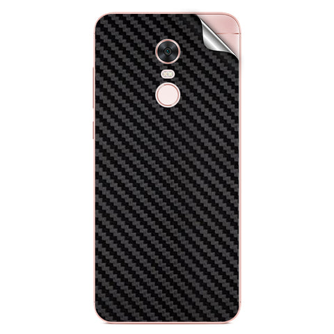 Black Carbon Fiber Texture For Xiaomi Redmi Note 5 Skin