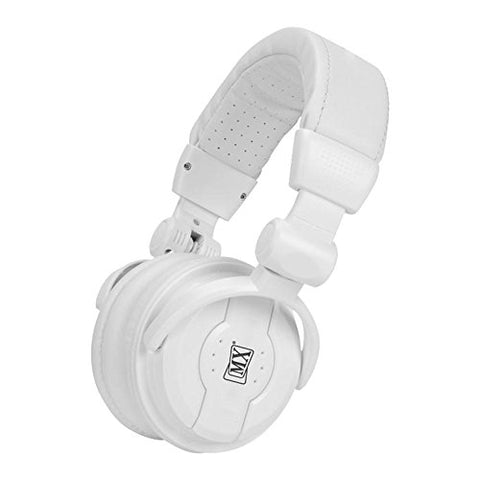 MX Value On Ear DJ Headphones -DJ 1000 _White