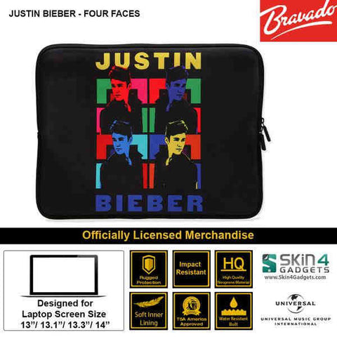 Laptop Sleeve for 13 inch  Artist: Justin Bieber 4 Faces Edition.