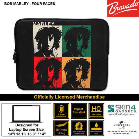Laptop Sleeve for 13 inch Artist: BOB MARLEY  4 Faces Edition