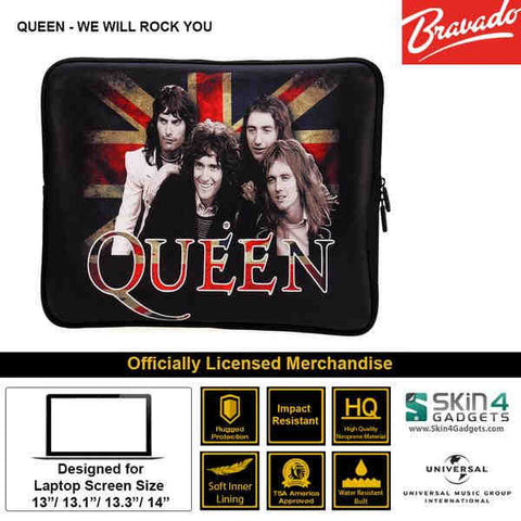 Laptop Sleeve for 11 inch Artist: Queen We Will Rock You Edition.