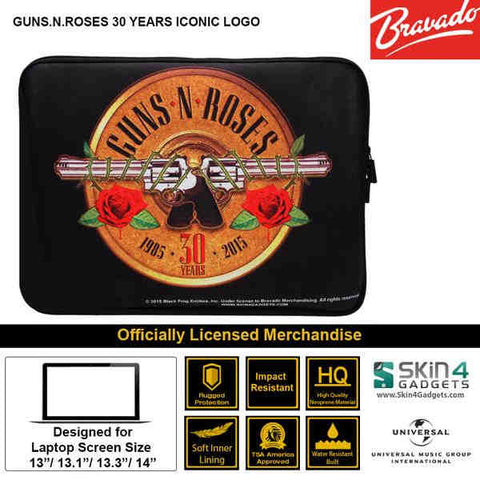 Laptop Sleeve for 11 Artist: Guns n Roses Emblem 30 Years Edition. - skin4gadgets