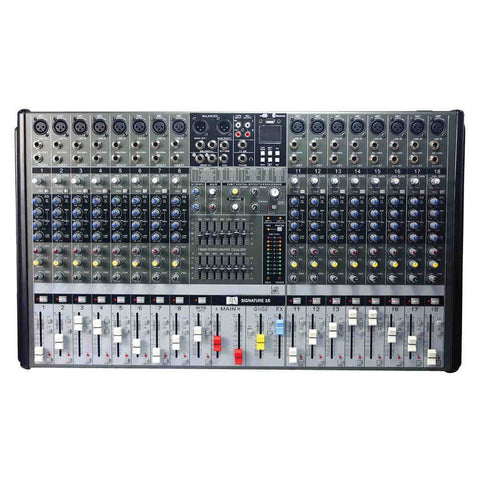 MX Live Audio Mixer 16 Channel Professional Mixer with USB & Bluetooth MX SIGNATURE 16 USB
