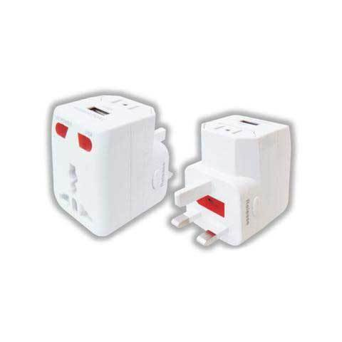 UNIVERSAL TRAVEL ADAPTER CHARGER, WITH INDICATOR AND FUSE MX2988