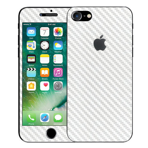 APPLE IPHONE 7 White Carbon Fiber Skin Sticker