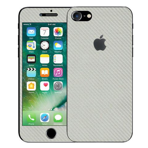 APPLE IPHONE 7 Silver Carbon Fiber Skin Sticker