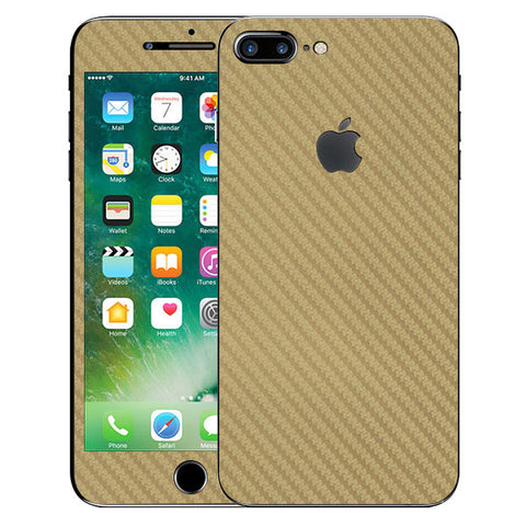 APPLE IPHONE 7 PLUS Golden Carbon Fiber Skin Sticker
