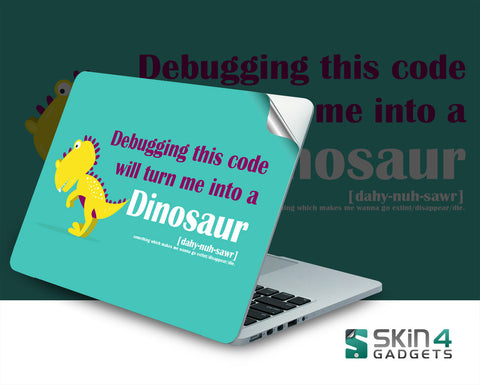 Skin4Gadgets Coding Dinosaur 1 Laptop Skin For 13 and 13.3 inch Laptop
