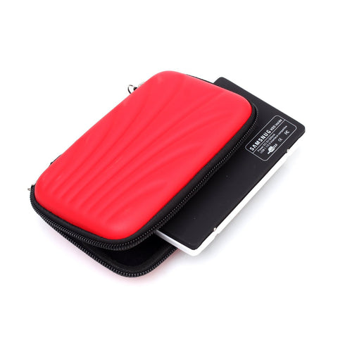 Hard Drive Case Hard Shell - Red