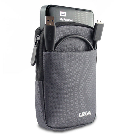Hard Drive Case - Impact Resistant Jacket Pouch - Slate Grey