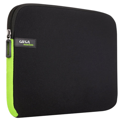 Gizga Essentials Black Green Tablet/Laptop Sleeve