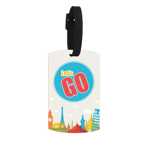 Let's Go Luggage Tag