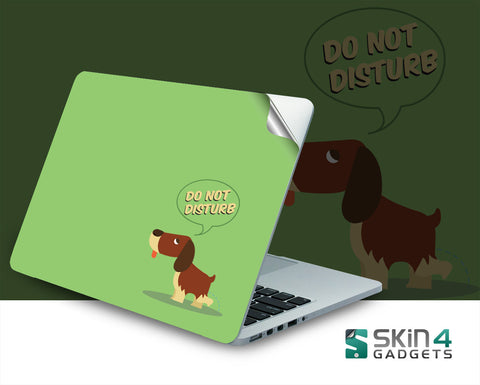 Skin4Gadgets Do Not Disturb Laptop Skin For 12 inch Laptop