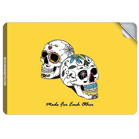 Made for each other (Skulls & Roses) For APPLE MACKBOOK RETINA 12 INCH Skin
