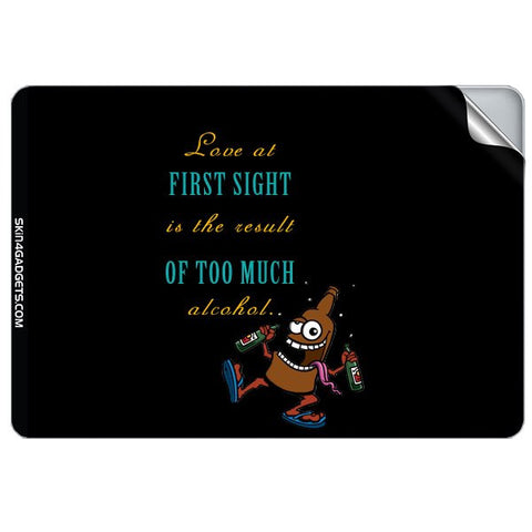 Love at first sight is the result of too much alcohol For APPLE MACKBOOK RETINA 12 INCH Skin