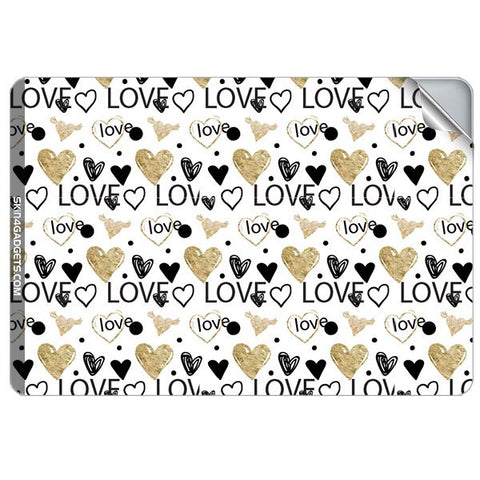 Heart and Love Doodle For APPLE MACBOOK PRO 17.6 INCH Skin - skin4gadgets