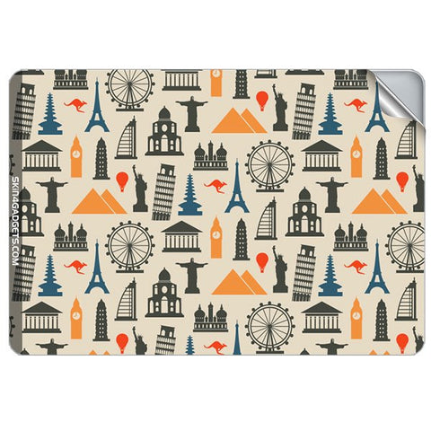Wonders of the World For APPLE MACBOOK AIR 11.6 INCH Skin - skin4gadgets