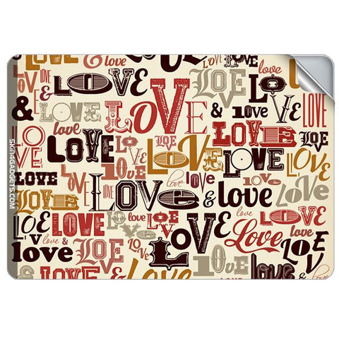 Love typography For APPLE MACBOOK PRO 17.6 INCH Skin - skin4gadgets