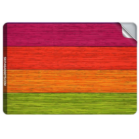 Multicolor Wooden Planks For APPLE MACBOOK PRO 17.6 INCH Skin - skin4gadgets