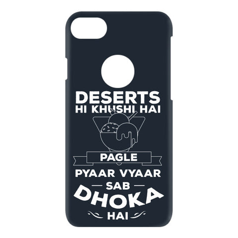 Desert hi khushi hai For APPLE IPHONE 7 Designer CASE