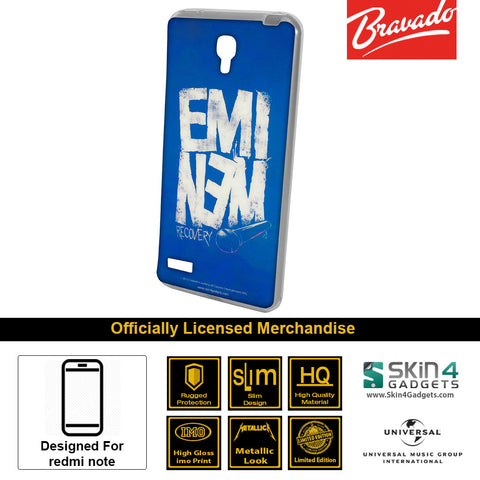 Phone Case For Xiaomi Redmi Note  Artist:  Eminem Recovery
