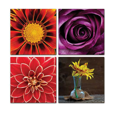Flowers - Canvas Print Non Framed - skin4gadgets