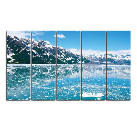 Glacier Landscape - Canvas Print Stretched and Framed - skin4gadgets